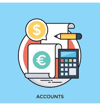 Accounts platte vector pictogram