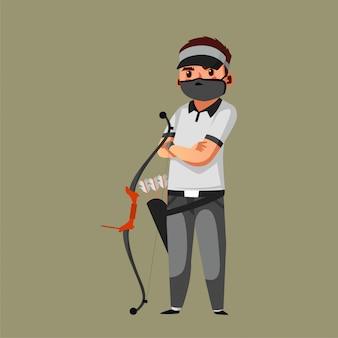 Achery atleet draagt een masker tijdens een pandemie