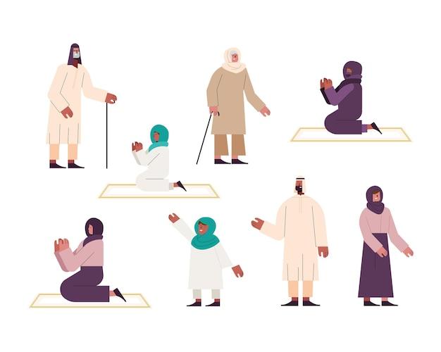 Acht moslimpersonen