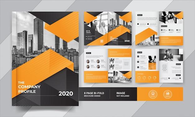Acht pagina's zakelijke brochureontwerp