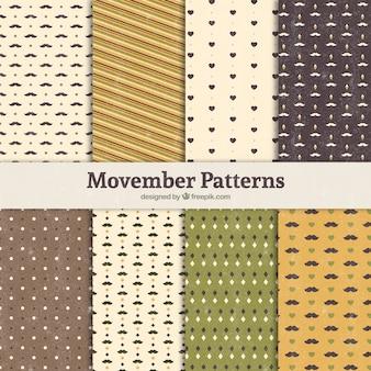 Acht patronen voor movember