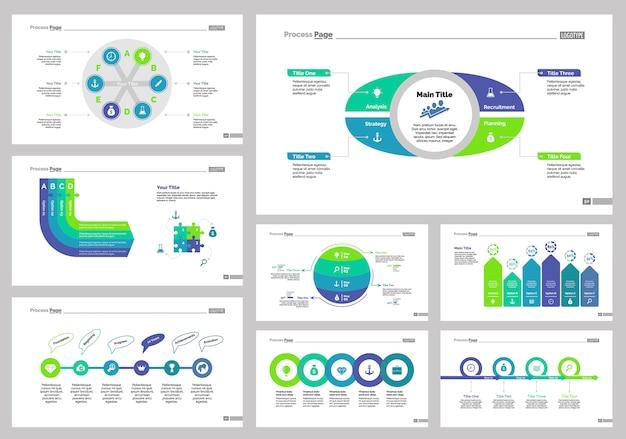 Acht recruitment slide templates set