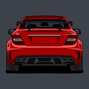 Achteraanzicht auto illustratie