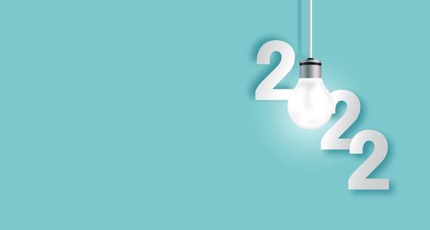 Achtergrond 2022 met de lamp