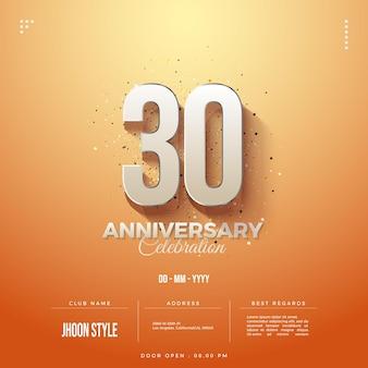 Achtergrond 30e verjaardag viering uitnodiging