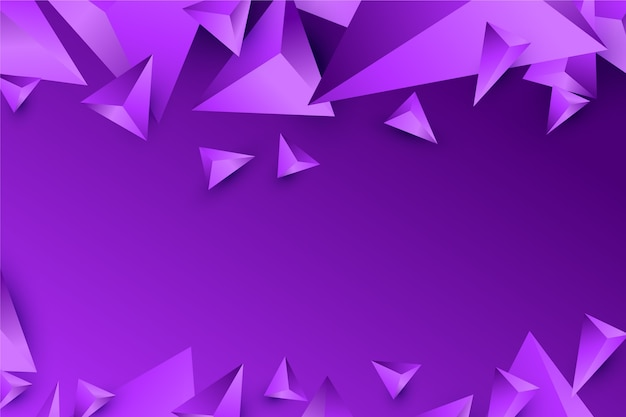 Achtergrond 3d driehoeksontwerp in levendige violette tonen