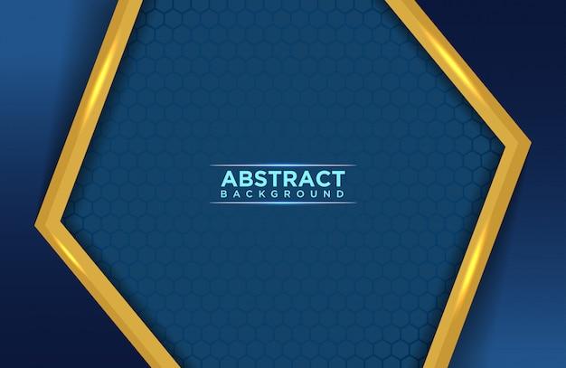 Achtergrond abstract blauw en goud