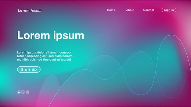 Achtergrond abstracte paarse zee lijnkleur voor homepage