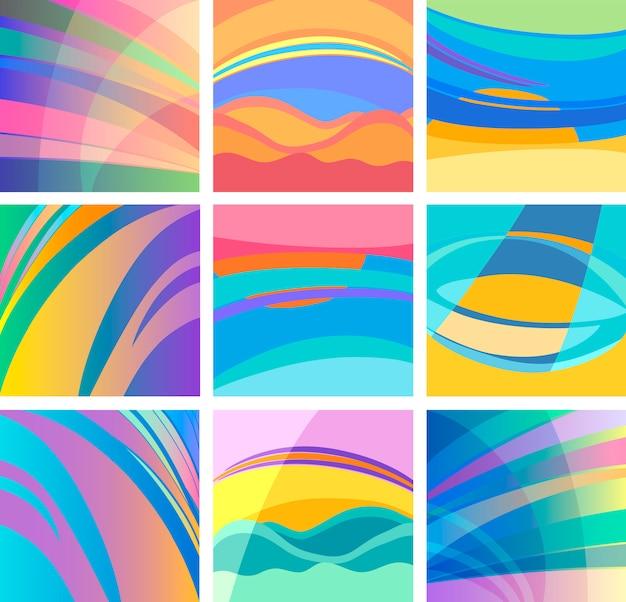 Achtergrond abstracte pastel ontwerpset