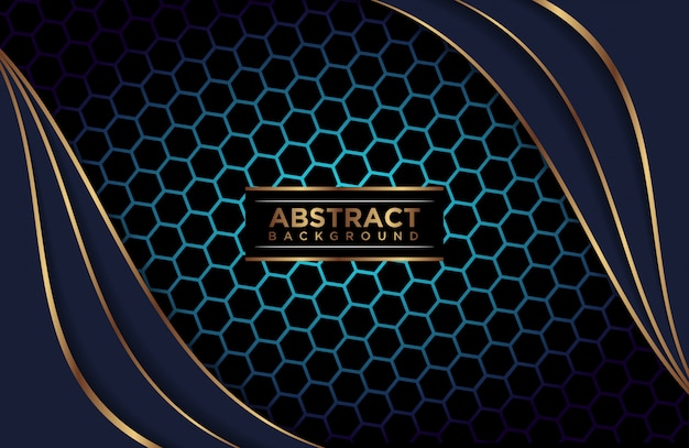 Achtergrond abstracte veelhoekige blauwe lagen