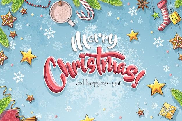 Achtergrond afbeelding vrolijk kerstfeest.