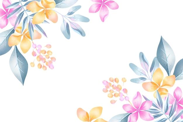 Achtergrond aquarel bloemen in pastel kleuren