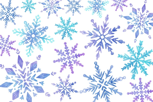 Achtergrond aquarel winter