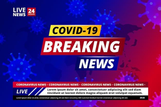 Achtergrond coronavirus breaking news