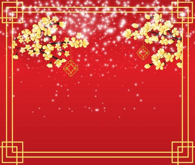 Achtergrond die het chinese nieuwjaar viert.