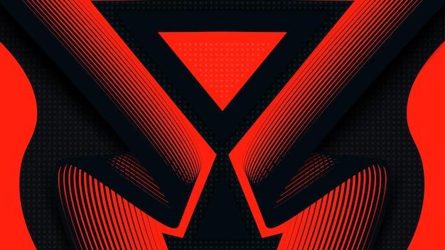 Achtergrond donkerblauw en rood luxe modern design vector