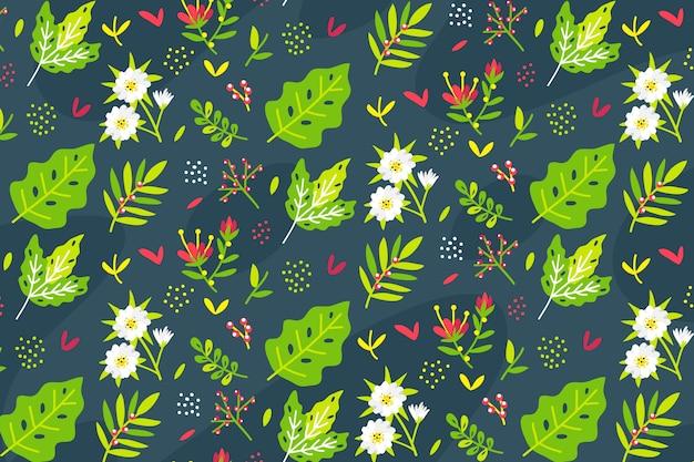 Achtergrond florale ditsy Gratis Vector