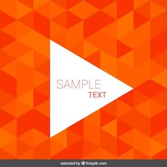 Achtergrond gemaakt met oranje driehoeken