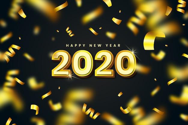 Achtergrond gouden nieuw jaar