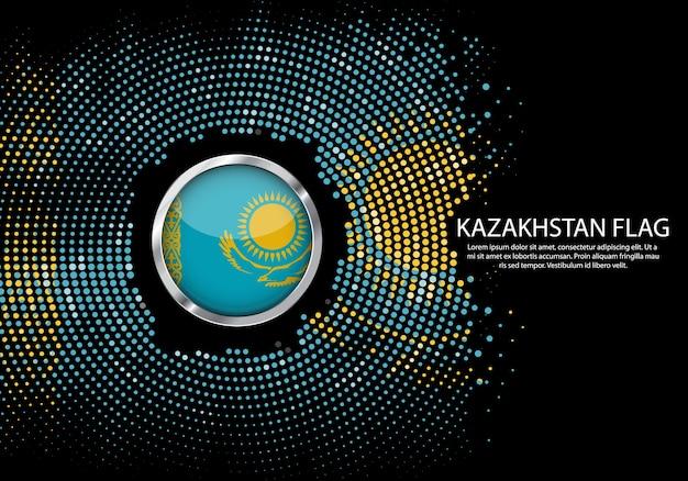 Achtergrond halftone gradiëntmalplaatje van de vlag van kazachstan