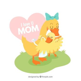 Achtergrond ik hou van je moeder