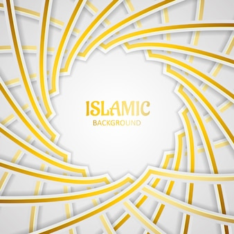 Achtergrond islamitische vector premium