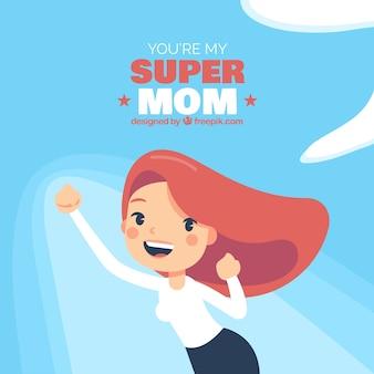 Achtergrond jij bent mijn supermom