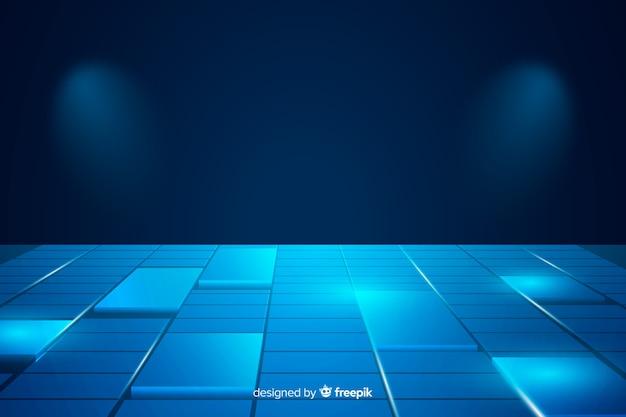 Achtergrond kubussen vloer realistisch