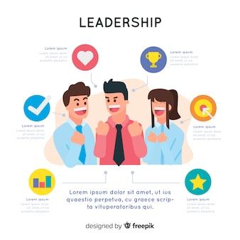 Achtergrond leiderschapsjabloon
