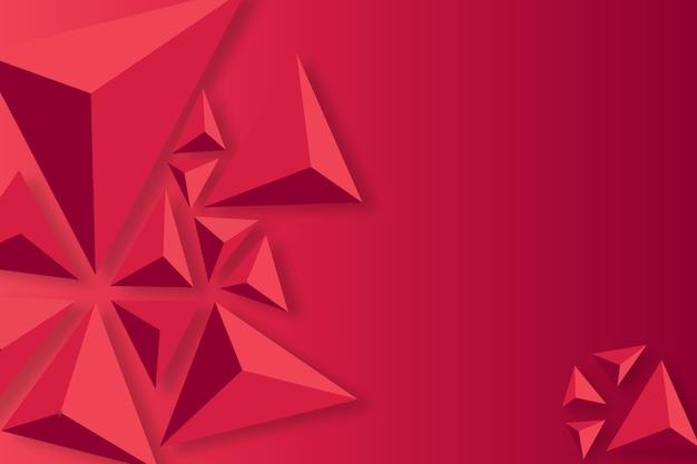Achtergrond met 3d driehoekenconcept