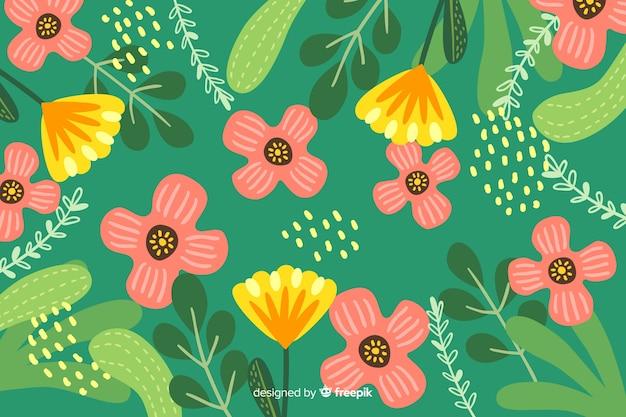 Achtergrond met abstract bloemenontwerp