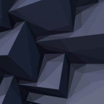 Achtergrond met abstracte cartoon gestileerde zwarte kubussen