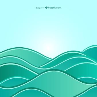 Achtergrond met abstracte golven op zee