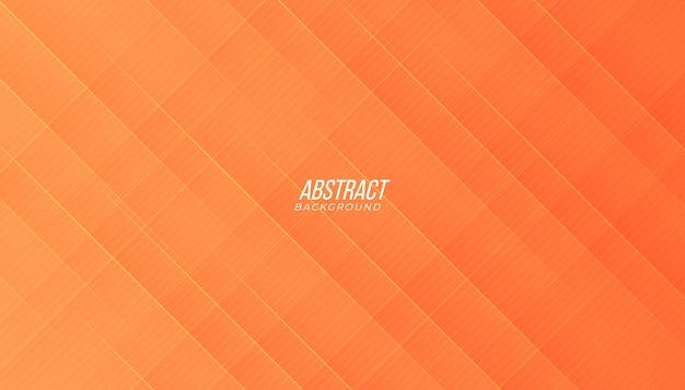 Achtergrond met abstracte lijnen en schaduw in perzik oranje kleur