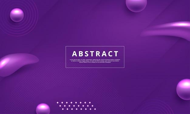Achtergrond met abstracte memphis stijl ontwerp in paarse kleur