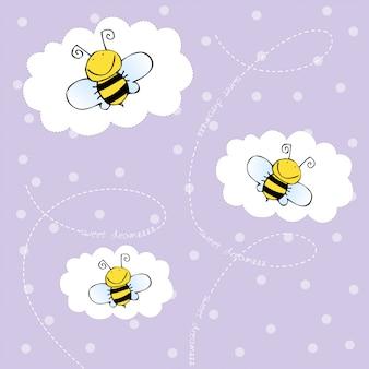 Achtergrond met bijen