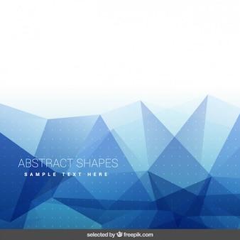 Achtergrond met blauwe abstracte vormen