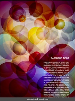 Achtergrond met bubbels en template