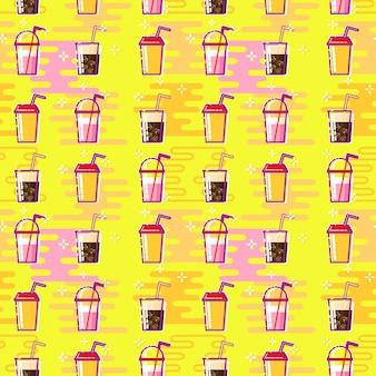 Achtergrond met cocktail of drankjes
