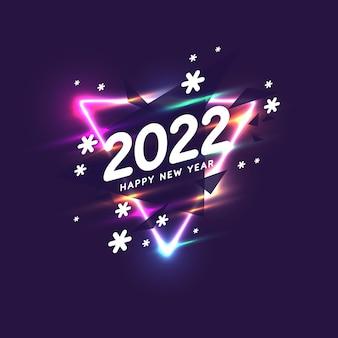 Achtergrond met de inscriptie happy new year 2022 vectorillustratie in moderne stijl