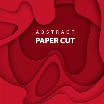 Achtergrond met diep rode kleur papier gesneden