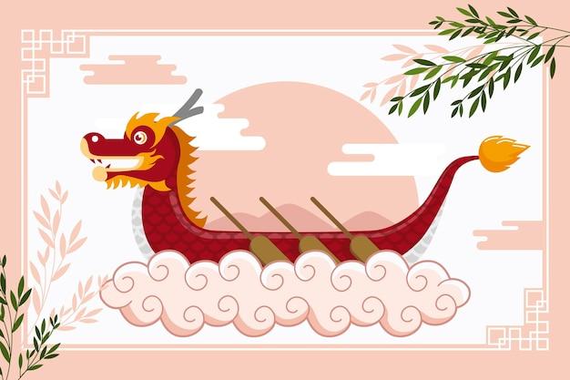 Achtergrond met drakenboot