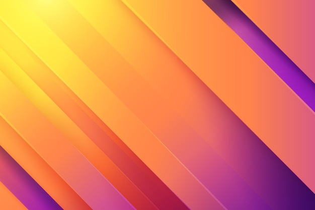 Achtergrond met dynamische lijnen in papierstijl