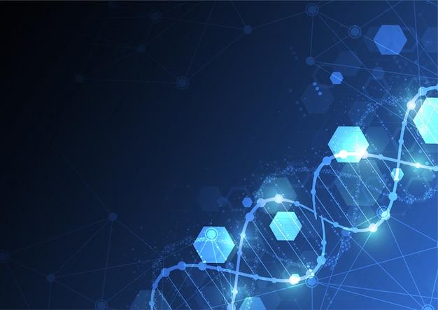 Achtergrond met een dna-moleculen.