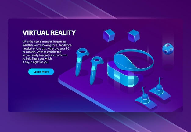 Achtergrond met gadgets voor virtual reality