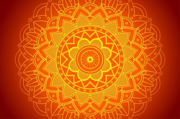 Achtergrond met geel mandalapatroon