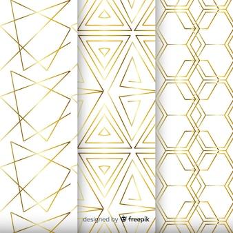 Achtergrond met geometrische collectie