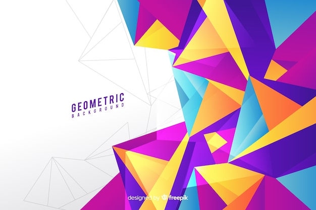 Achtergrond met geometrische kleurovergangen