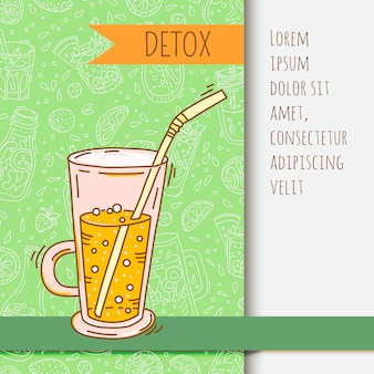 Achtergrond met glaswerkkruik met fruit gegoten water. detox voor gezondheid.
