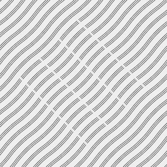 Achtergrond met golvende zwarte lijnen
